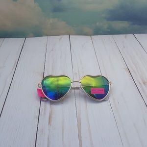 Betsey Johnson Heart Shaped Aviator Sunglasses
